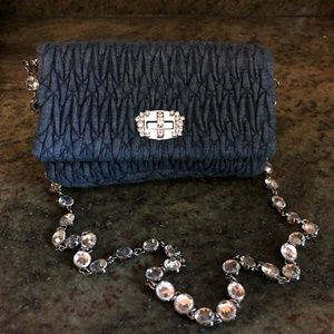 Miu Miu Cross Body Bag or Clutch or Purse in Blue